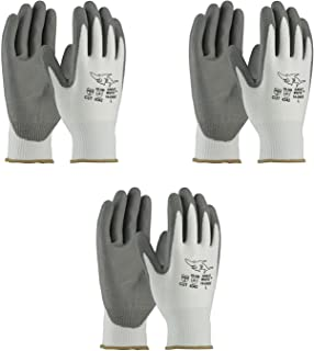 PIP 16-D622 G-Tek PolyKor Seamless Knit PolyKor Blended Gloves - Polyurethane Coated Smooth Grip on Palm & Fingers (3 Pair Pack) (Large)