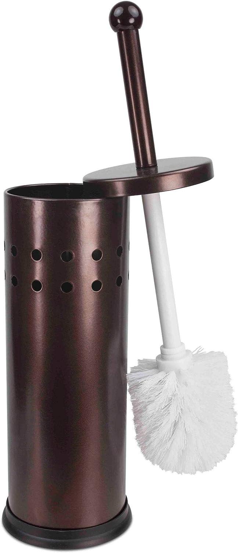 Home Basics Bronze Toilet Brush and Holder