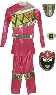 Girls Deluxe Pink Power Ranger Dino Charge Costume [82774]