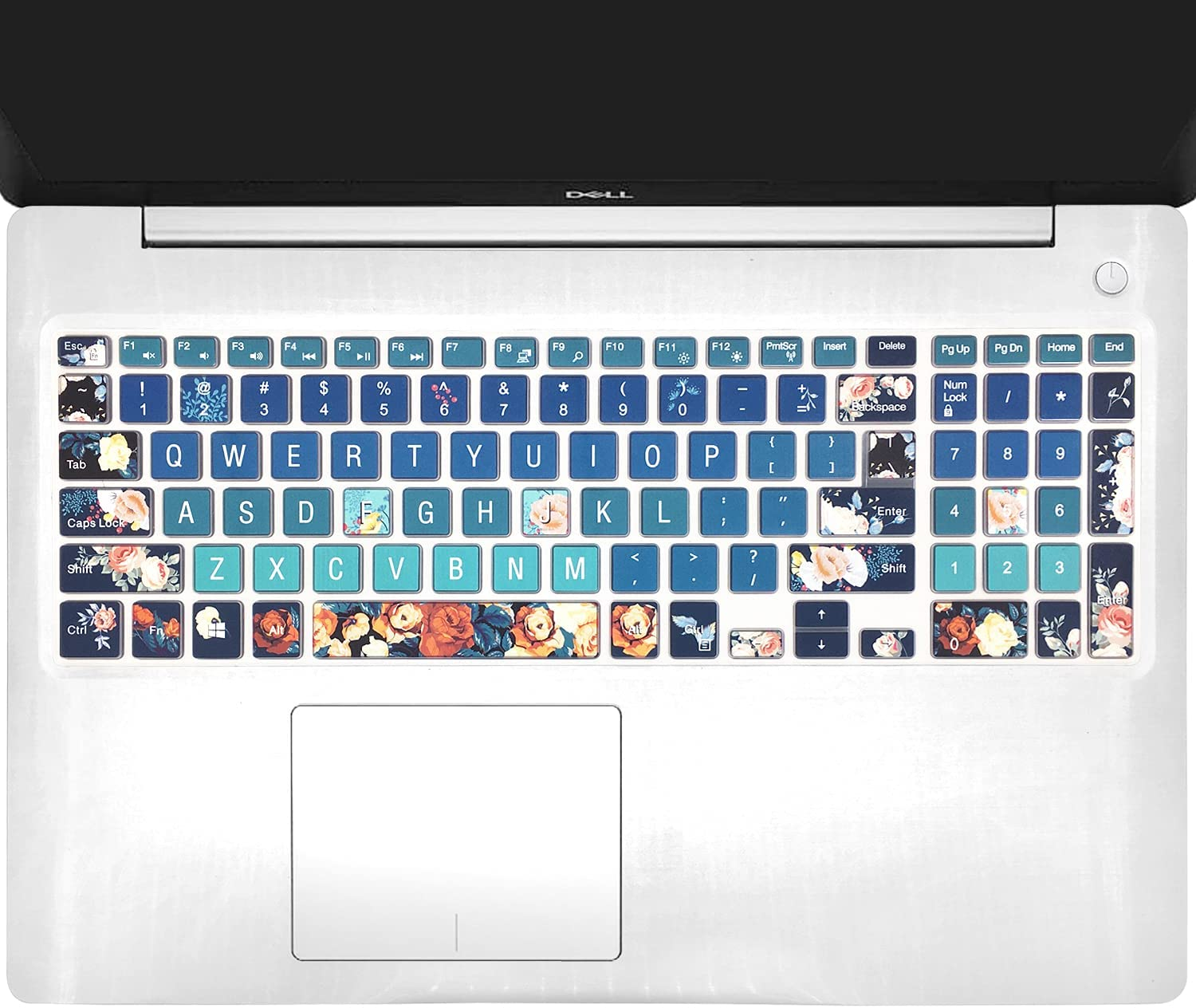 Keyboard Cover for Old Dell Inspiron 15 3000 5000 15.6'' Series, Dell G3 15 17 Series, Dell G5 15 Series, Dell G7 15 17 Series, Insprion 17 5000 Series, Rose