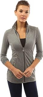 Women Collar Pockets Casual Zip Jacket