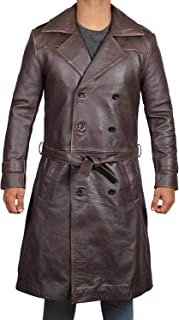 Mens Trench Coat Shearling - 2049 Mens Long Trench Coat Jackets for Winter