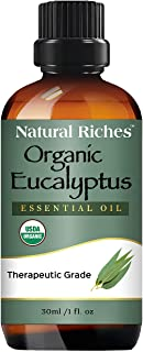 Organic Eucalyptus Oil Pure USDA Organic Certified Eucalyptus Essential Oil Relief Sinus Colds Allergy Premium Quality The...