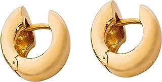 Orecchino Donna In Argento 925 Placcato Oro, Chiusura A Scatto. Nickelfree, Anallergico. Prodotto Artigianale Made In Italy