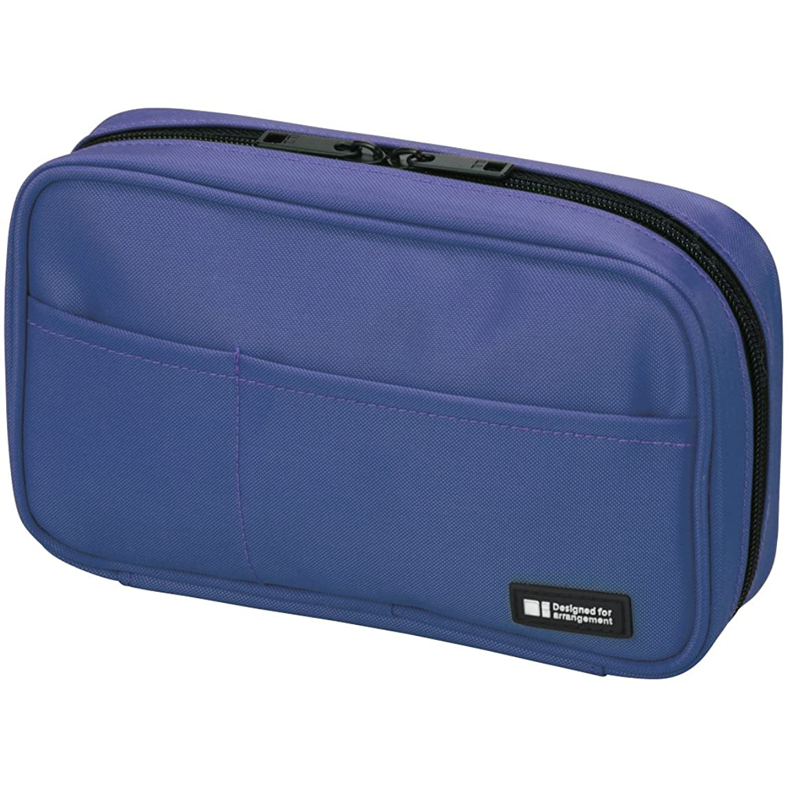 LIHIT LAB Pen Case, 7.9 x 2 x 4.7 inches, Blue (A-7551-108)