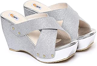 Digni Women's Wedge Sandal High Heel Sandal Antique Pcs in Sandal