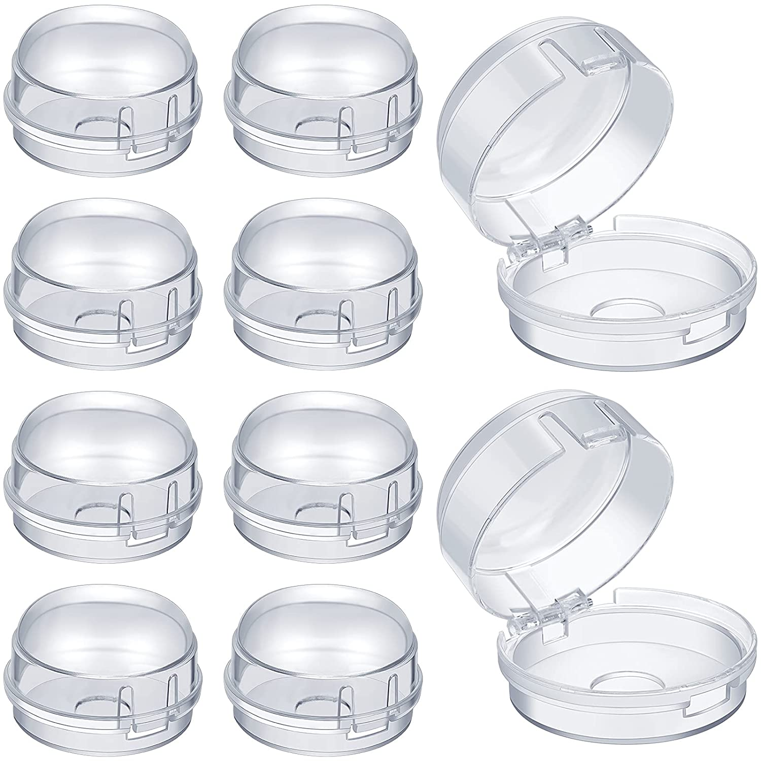 10 Pieces Stove Knob Covers Kitchen Stove Gas Knob Covers Safety Stove Knob Covers for Kids Baby Toddler (Clear, 2 cm Hole)