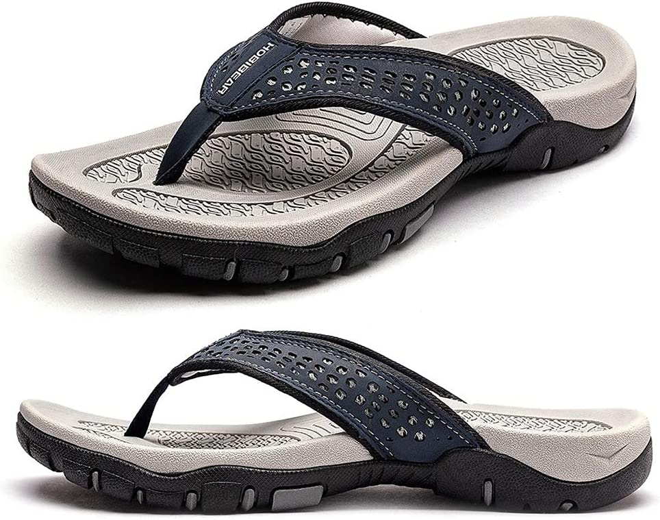 HOUFT Mens Large Size It is very popular Sliders Sandals Flip Flops Rare Thongs Slippers