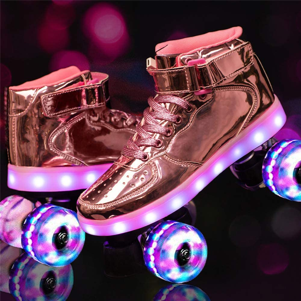 In a popularity ADEDS Ranking TOP15 Roller Skates LED Row Double Luminous Flash