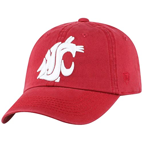 online store 8aaeb d1933 Washington State Cougars WSU Hat NCAA Top of the World Crew Adjustable  Relaxed Fit Cap Cardinal