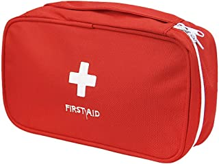 PAXLamb First Aid Bag Empty Red Emergency Medical Backpack Empty First Responder Trauma Bag Multi-Pocket for Traveling Cam...