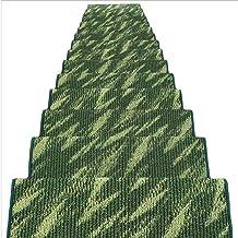 JIAJUAN Rectangle Stair Carpet Treads Durable Hard Floor Staircase Step Mats Modern, 5 Colors, 4 Sizes (Color : D-1 pcs, S...