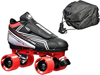 Customized Tarmac Remix Quad Roller Speed Skates Red Dart Wheels Bonus DS Skate Bag
