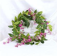 2 stks 2m Wisteria Kunstbloem Vine Krans Bruiloft Boogdecoratie Fake Plant Blad Rotan Trailing Kunstbloem Ivy WA (Color : ...