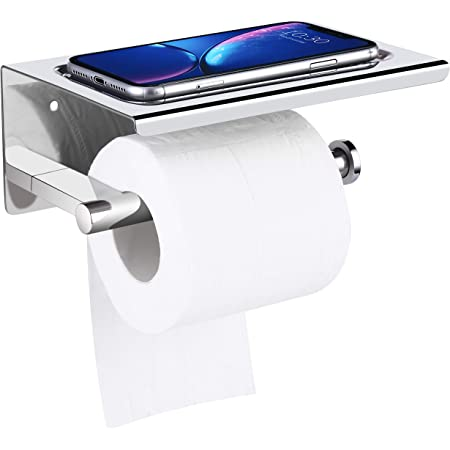 Bathroom Toilet Wall Hanging Suction Cup Roll Paper Holder Rack Shelf Seraphic
