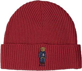 قبعة صوف ميرينو المميزة من Polo RALPH LAUREN (لون أحمر)