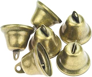 Powlankou 40 Pieces 38mm/1.5inch Vintage Jingle Bells Bronze Tone Bells Brass Bell Hangings for Christmas Wind Chimes Making Crafts Decorations