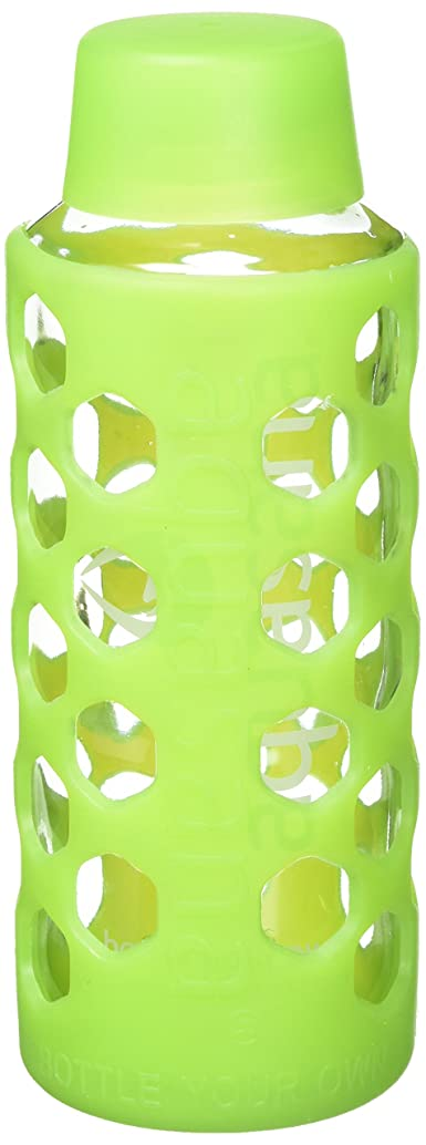 Aquasana AQ-6006-GREEN 18-Ounce Glass Water Bottle with Silicone Sleeve, Green
