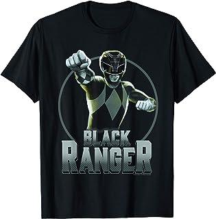 Power Rangers Black Ranger Simple Portrait T-Shirt