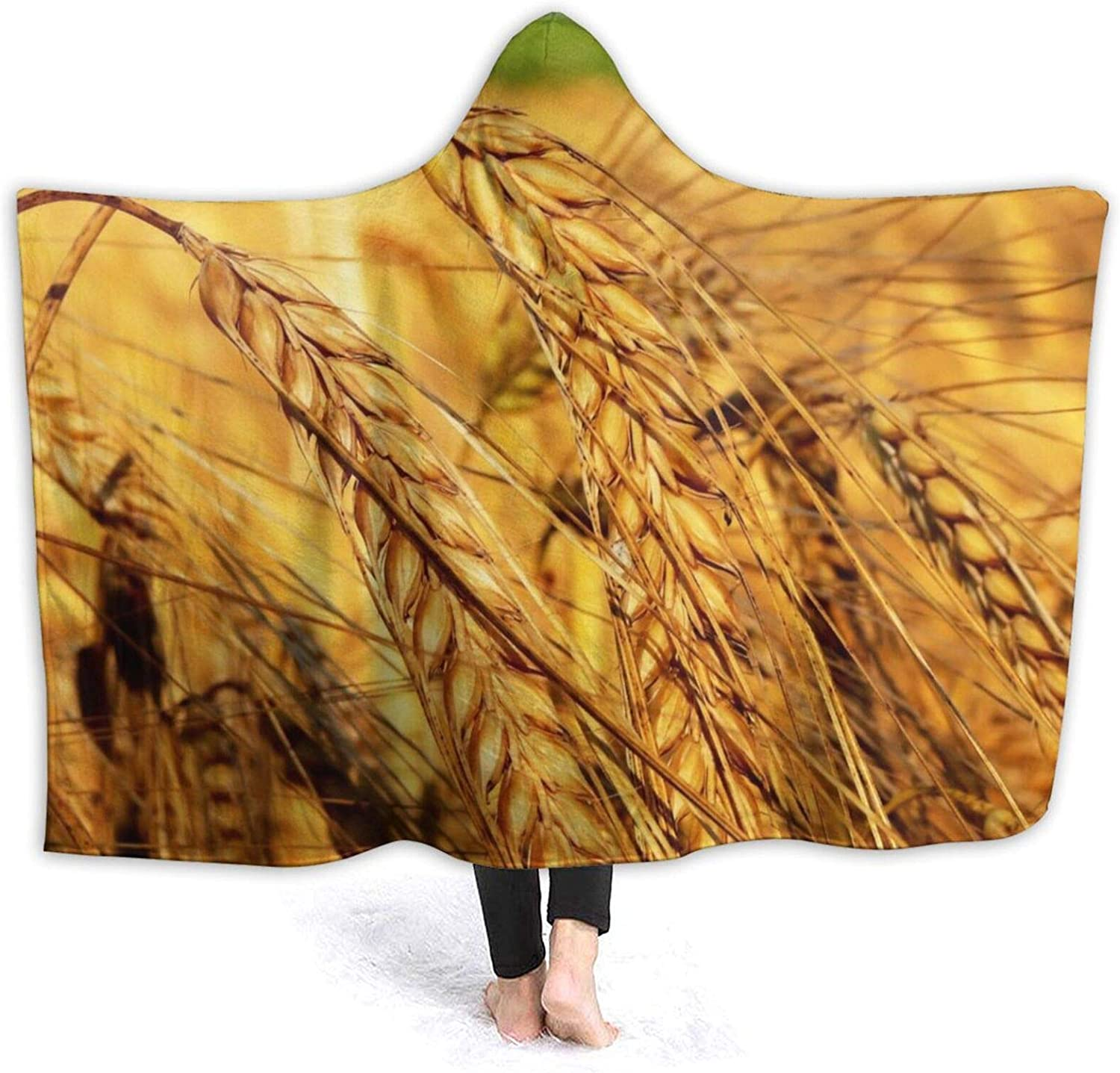 Blanket for Girls Hooded Max 59% Lowest price challenge OFF Kids Wearable Harvest Wheat T Hood Fall