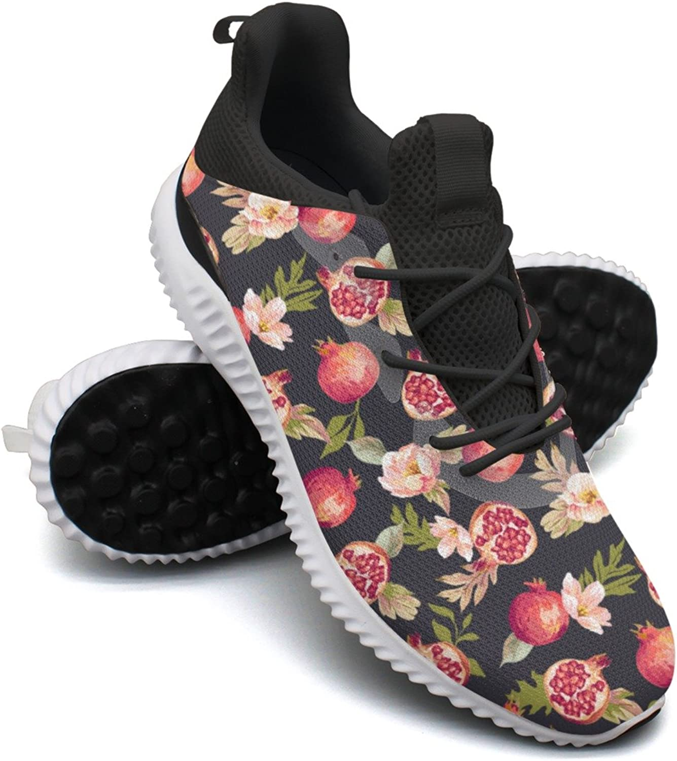 Brilliant Watercolor Pomegranate Flowers Leisure Running shoes Womens Top Hunting Active