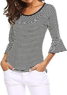itManiche ShirtTop Quarti E Bluse Camicie Amazon Tre T rdhQtsC