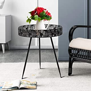 """Donosura Side Table Plant Stand 20""""Coffee Tea End Table Furniture Food Plate Indoor Outdoor for BBQ Garden Terrace Living ..."""