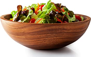Acacia Wooden Serving Bowl for Salads, Pasta, Fruits or Snack, Large 12