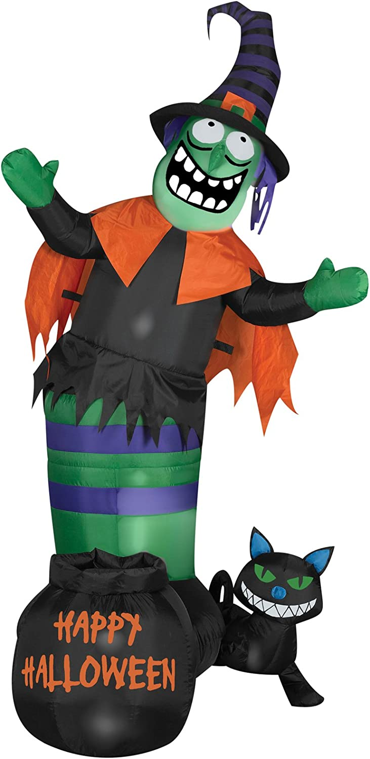Gemmy Airblown Animated Wobbling Limited Special Price Witch Indianapolis Mall Inflatable Scene