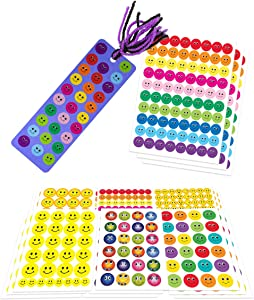 Hygloss Products Art Activity for Kids For Younger Children Preschool Make 35 Bookmarks With 18 Sheets of Smiley Stickers