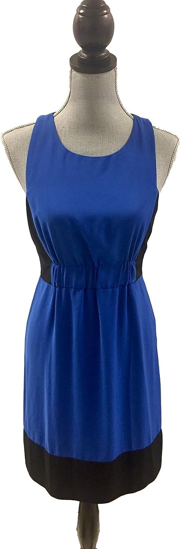 Rachel Roy Sleeveless High Neck colorblock Dress bluee Size 4