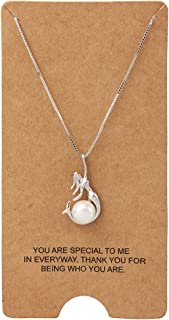 WRISTCHIE Womens Fashion Jewelry 925 Sterling Silver Mermaid Pendant Necklace 18+2 inches