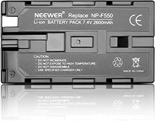 Neewer 7.4V 2600mAh Rechargeable Li-ion Battery Pack Replacement for Sony NP-F550/570/530, Compatible with Sony HandyCams,...