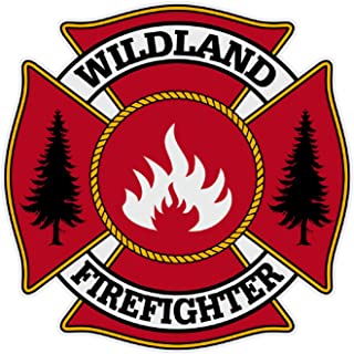 Wildland Firefighter Maltese Cross Large 3 & 7/8