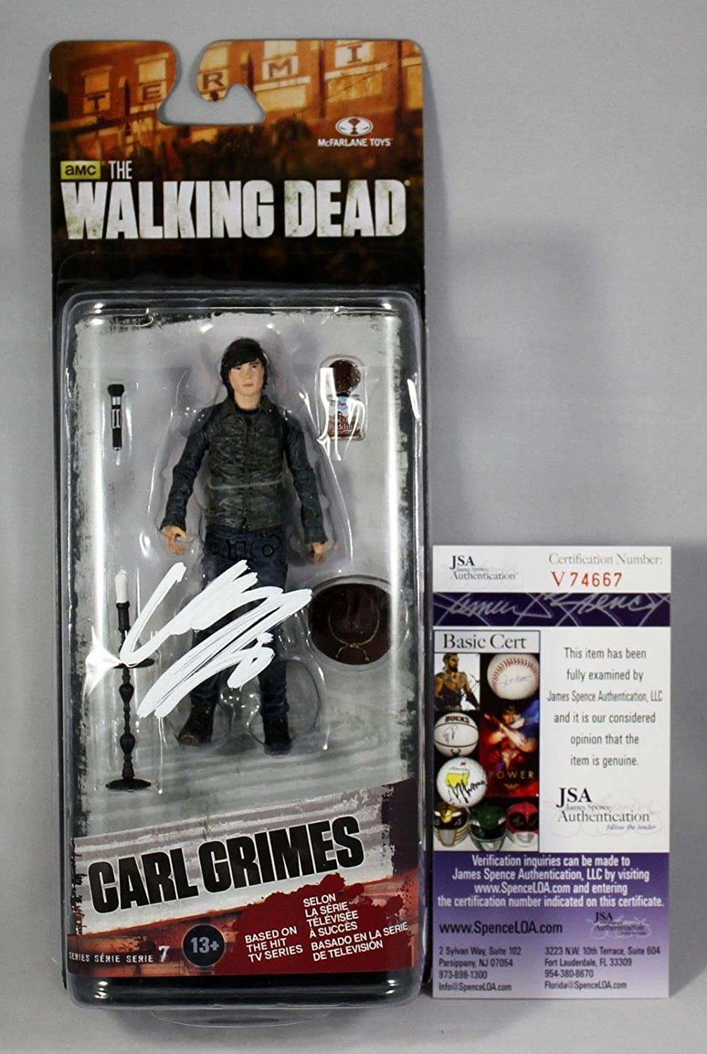 Chandler Sacramento Mall Riggs Signed Carl Grimes Dead Walking McFarlane New Shipping Free Fig The