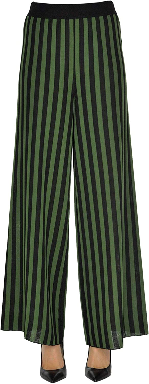 SO.BE Women's MCGLPNP000005025E Green Viscose Pants
