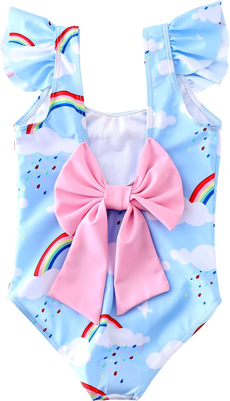 M2C Girls One Piece Ruffle Swimwear Scalloped Beach Bathing Suit