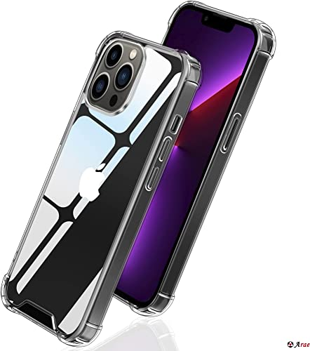 high quality Arae Phone Case Compatible for iPhone 13 outlet sale Pro 6.1 discount Inch TPU Bumper+ Hard PC Back Cover Shockproof Anti-Scratch Drop Protection Basic Case - 1 Pack, Clear sale