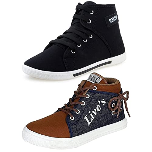 a23b8ab92c Ethics Men s Perfect Combo Pack of 2 Leather Multicolored Casual Sneakers  Shoes for Men s