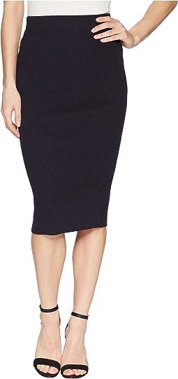 Rib Pencil Skirt