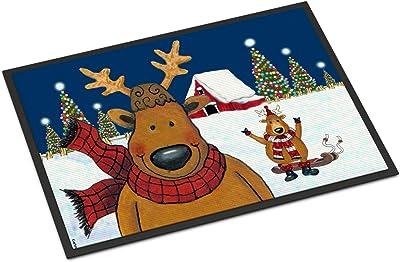 24H X 36W Carolines Treasures PJC1097JMAT Whose Happy Holidays Owl Indoor or Outdoor Mat 24x36 Multicolor Caroline/'s Treasures PJC1097JMAT Whose Happy Holidays Owl Indoor or Outdoor Mat 24x36