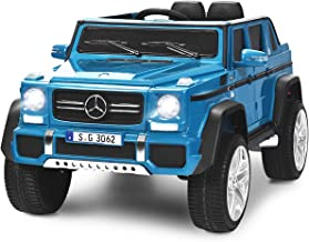 Costzon Ride on Car, Licensed Mercedes-Benz Maybach G650S, 12V Battery Powered Toy w/ 2 Motors, 2.4G Remote Control, 3 Spe...