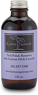 Karma Organic beauty natural Soybean Lavender Nail Polish Remover Nontoxic vegan cruelty free (4 fluid ounce)