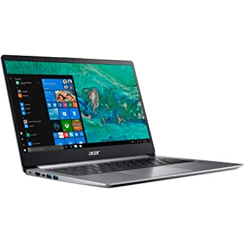 Acer Swift 1 SF114-32 Ultra Slim Laptop in Silver Quad Core Intel N5000 up to 2.7GHz 4GB DDR4 64GB eMMC 14in Full HD Fingerprint Reader Windows 10 in S Mode (Renewed)