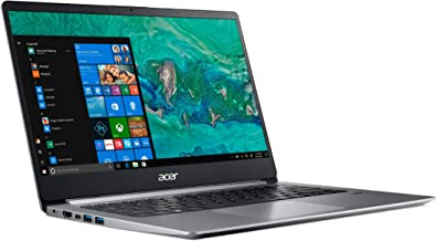Acer Swift 1 SF114-32 Ultra Slim Laptop in Silver Quad Core Intel N5000 up to 2.7GHz 4GB DDR4 64GB eMMC 14in Full HD Finge...