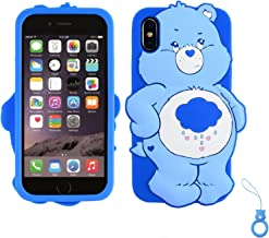 "Artbling Case for iPhone XR 6.1"",Silicone 3D Cartoon Animal Cover,Kids Girls Teens Cool Lovely Cute Cases,Kawaii Soft Gel Rubber Unique Character Protector+Finger Ring for iPhonXR (Rain Bear)"