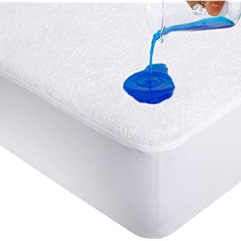 Mattress Protector Waterproof Bamboo Bed Matress Cover Single King Queen Double