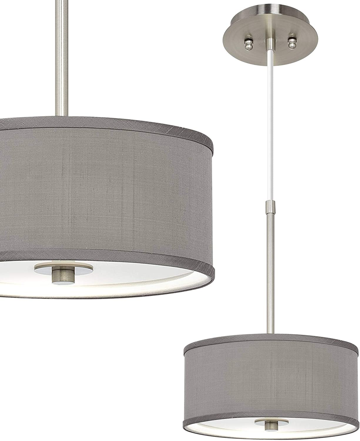 Brushed Nickel Long Beach Mall Mini Pendant Special sale item Light Fixture Co Wide Modern 4