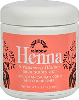 Rainbow Research Henna Hair Color and Conditioner Persian Strawberry Blonde- 4 oz - 100% Botanical Hair Color - Gently coa...