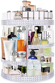 Famitree Rotating Makeup Organizer,Acrylic Clear Perfume Organizer,7 Adjustable Layers Large...